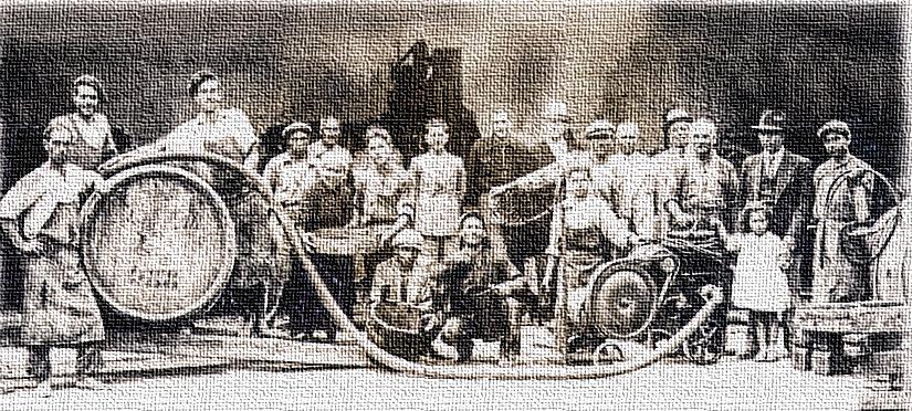 Arbeiter bei Resta - um 1920