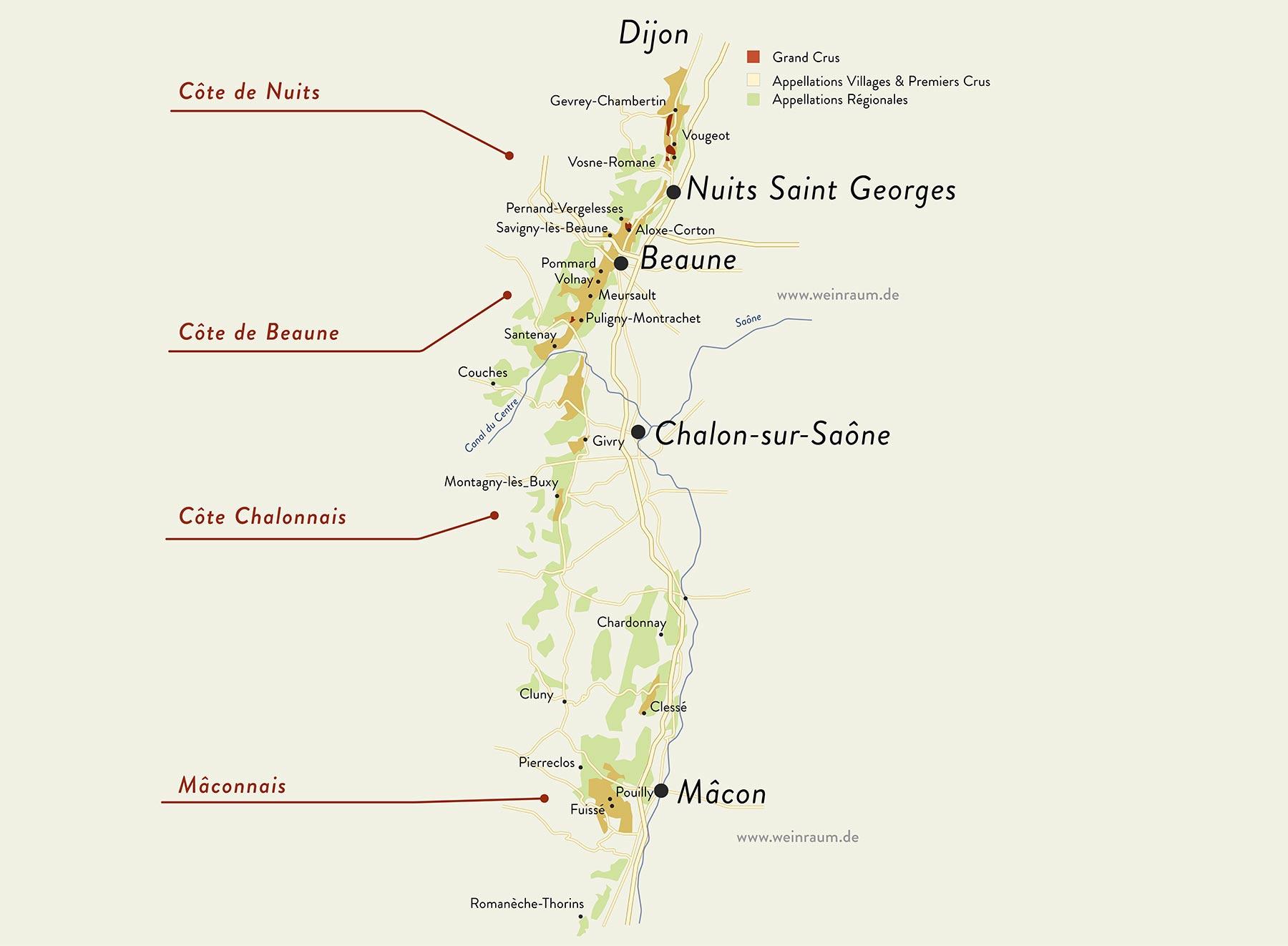 Das Kernland von Burgund