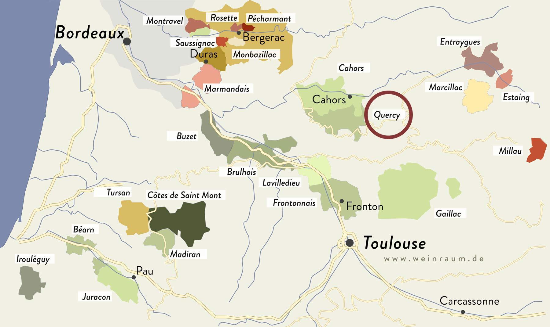 Quercy im Südwesten