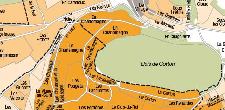 Die Karte zu den Reben oben im Bild