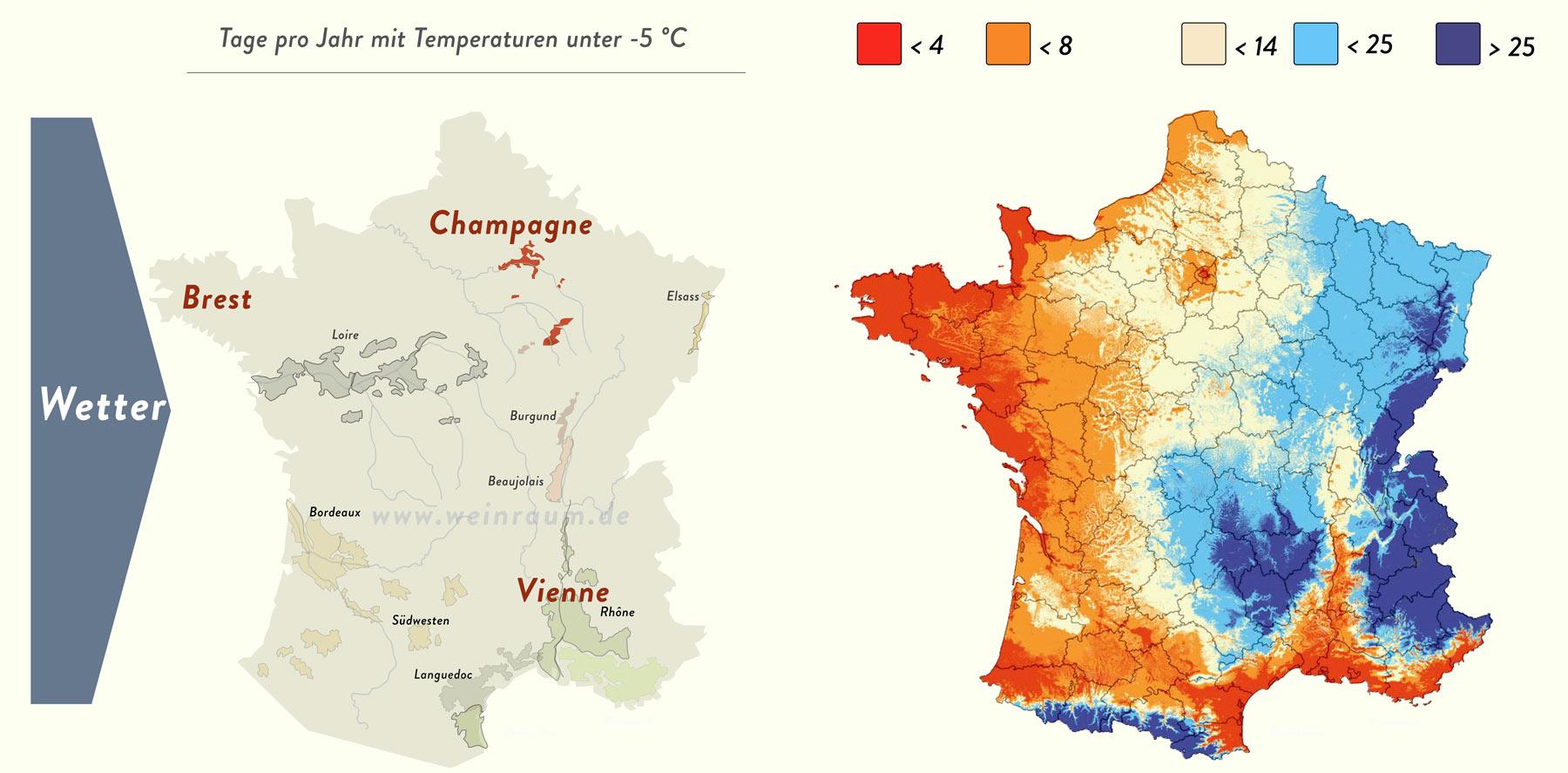 Das Wetter in der Champagne kommt aus dem Westen