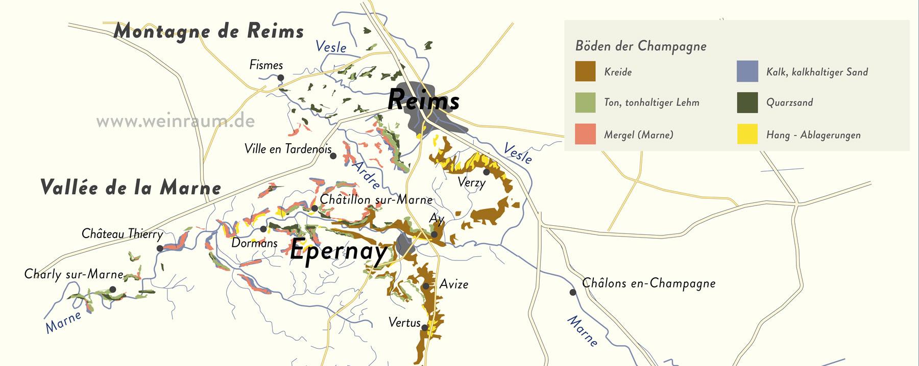 Die Böden der nördlichen Champagne im Pariser Becken