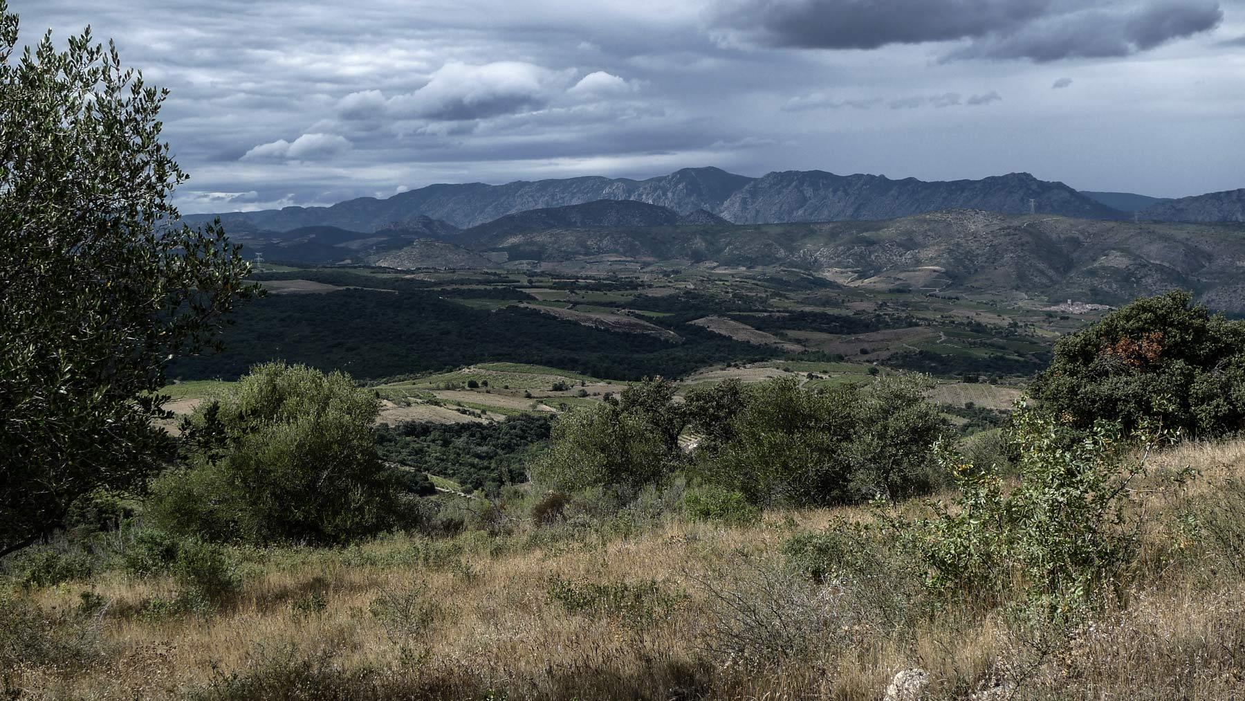 Berge und Weinberge sind Richtung spanischer Grenze oft zu finden