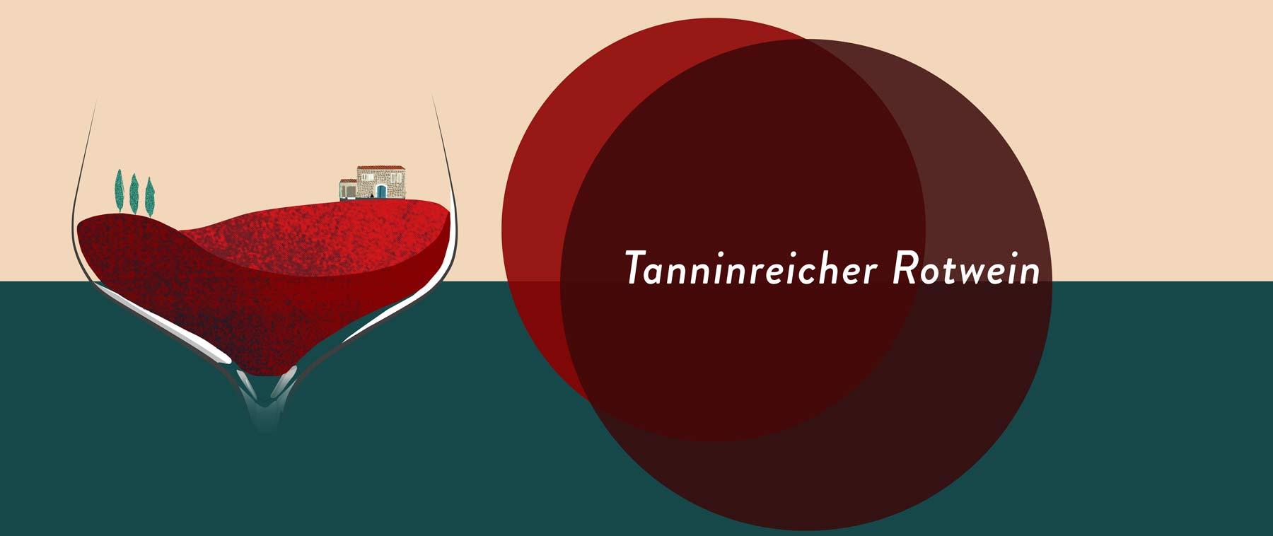 Tanninreicher Rotwein stammt meist von Beeren mit dicken Schalen